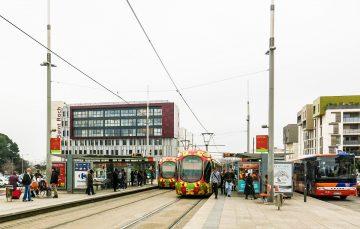 Polyclinique Saint-Roch arrêt tramway Sabine Montpellier